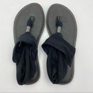 Sanuk Yoga Sling Back 2 Sandal Memory Foam Black